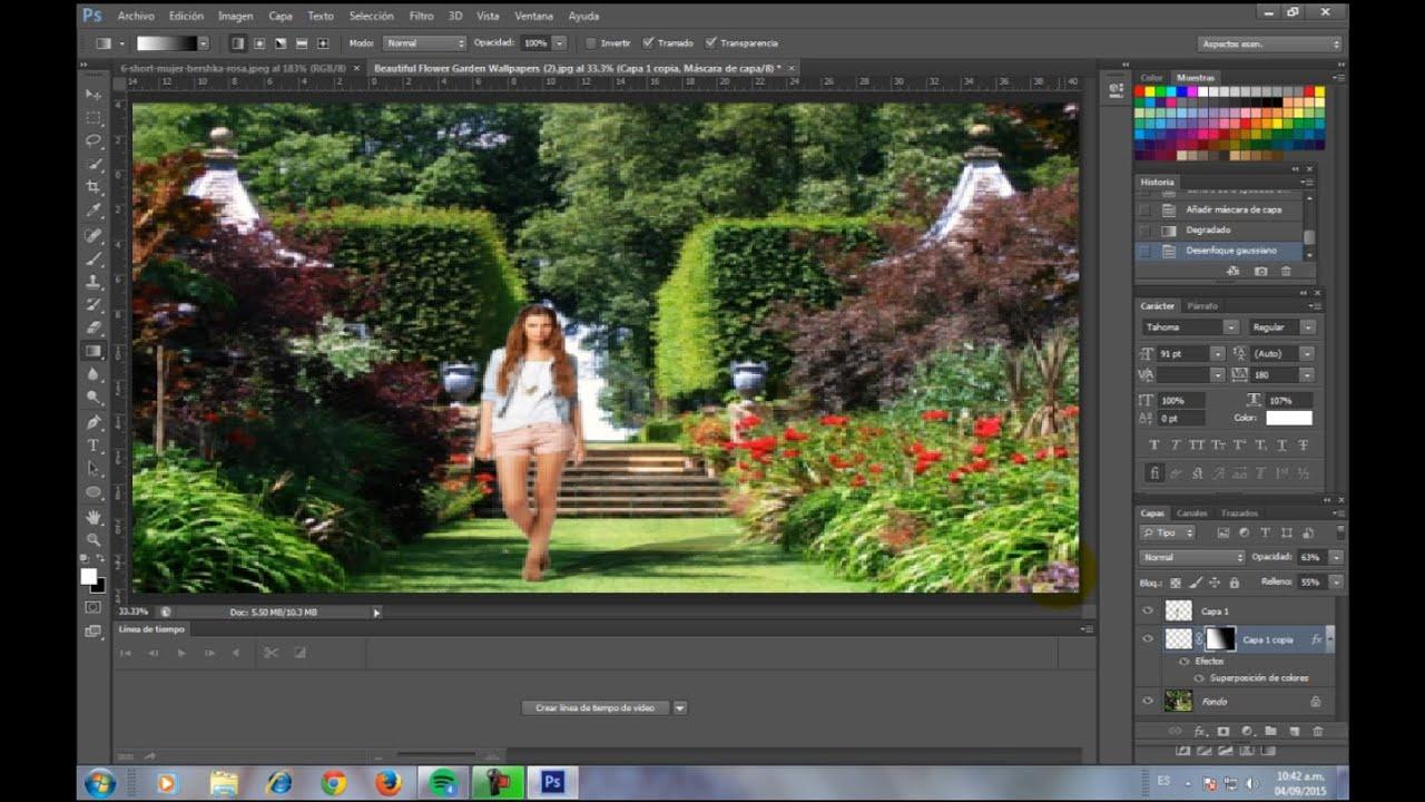Como hacer un Fotomontaje en PhotoShop