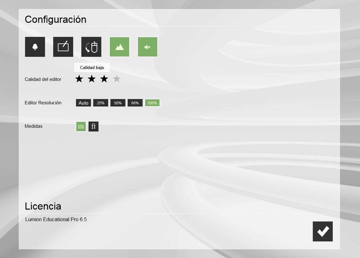 Configuracion de Lumion