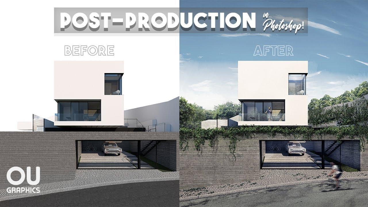 Postproduccion de renders en photoshop como anadir elementos
