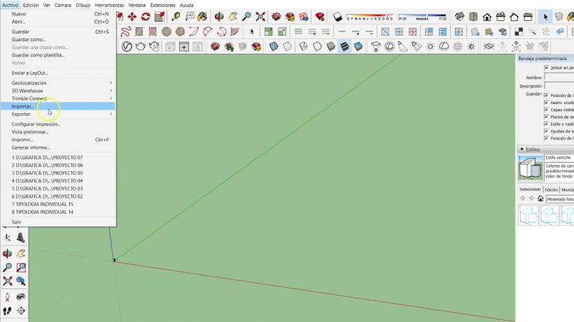 Como exportar en Sketchup